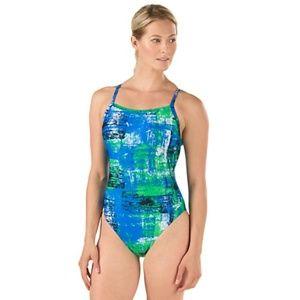 Speedo Chatter Flyback PowerFlex Eco Swimsuit 26